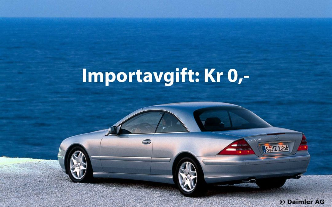 Nå kan 1999-modeler snart importeres avgiftsfritt